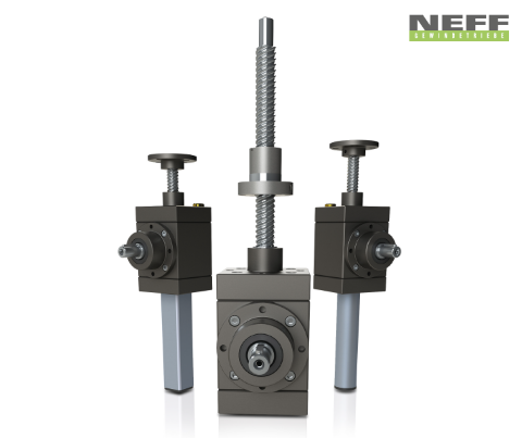 High speed screw jacks G-Series in VK, R and N versions (from left to right)