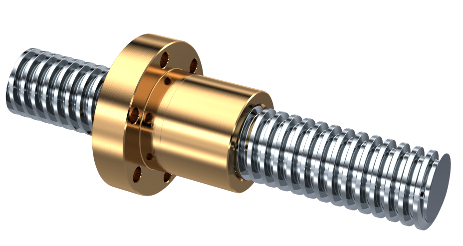 Trapezoidal screw drives consist of a trapezoidal threaded spindle and a trapezoidal threaded nut